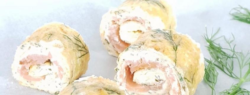 koolhydraatarme omeletrolletjes met zalm kusterug