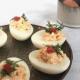 gevulde eitjes met zalm recept
