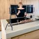Houten keuken met betonnen blad kopen
